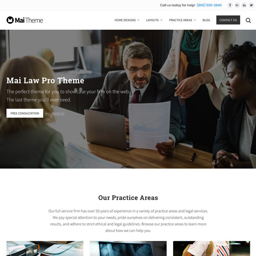 StudioPress Mai Law Pro Genesis WordPress Theme