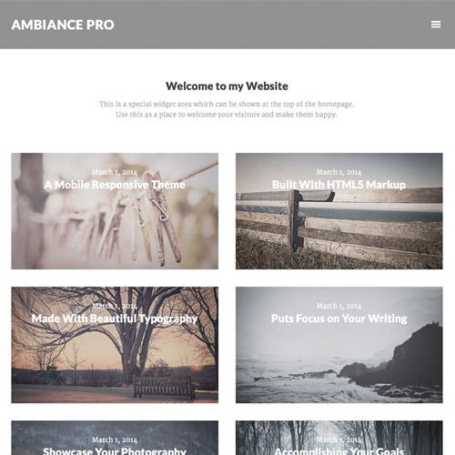 StudioPress Ambiance Pro Genesis WordPress Theme