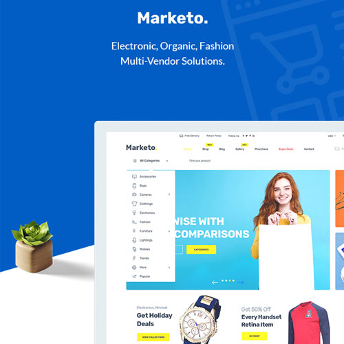 Marketo - eCommerce & Multivendor Marketplace Woocommerce WordPress Theme