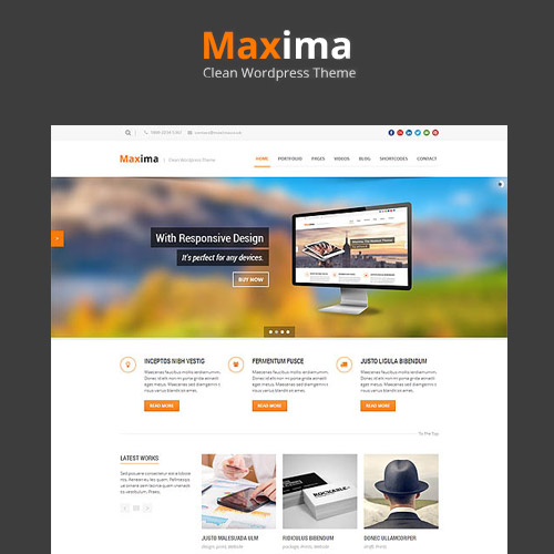 Maxima - Retina Ready WordPress Theme