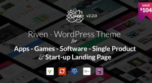 Riven - WordPress Theme for App