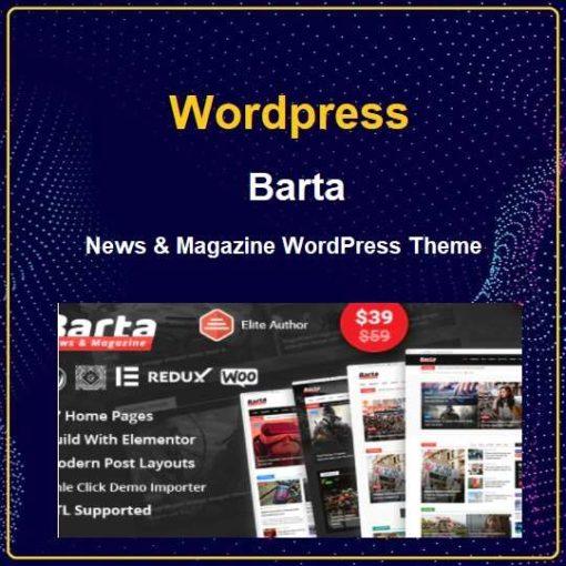 Barta - News & Magazine WordPress Theme