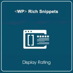 WP Rich Snippets Display Rating