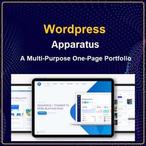 Apparatus | A Multi-Purpose One-Page Portfolio Theme
