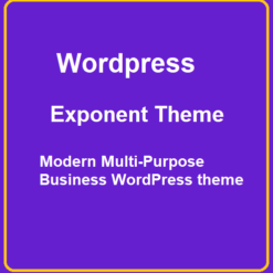 exponent Modern Multi-Purpose Business WordPress theme