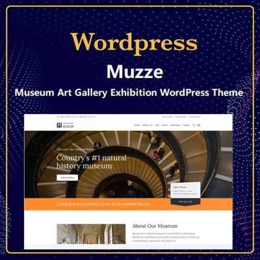 Muzze – Museum Art Gallery Exhibition WordPress Theme