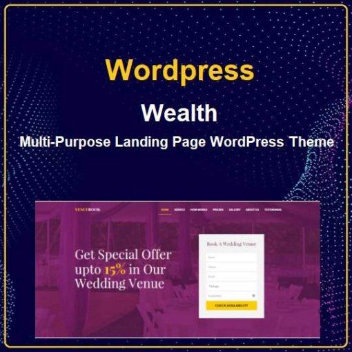 wealth Multi-Purpose Landing Page WordPress Theme