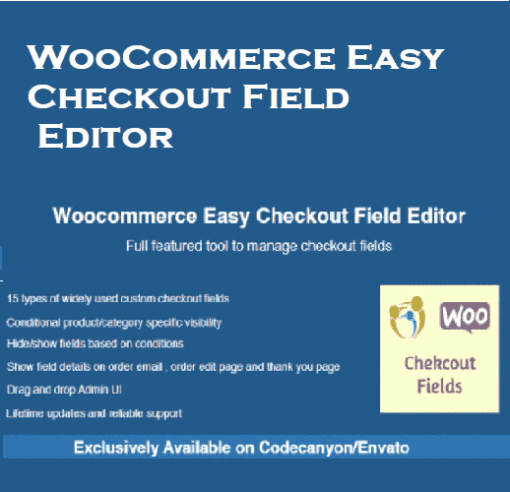 woocommerce easy checkout field