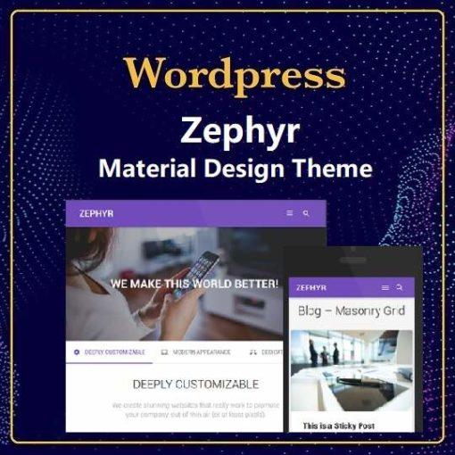 Zephyr – Material Design Theme